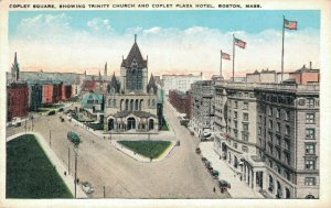 USA Copley Square Showing Trinity Church and Copley Plaza Hotel Boston 03.31