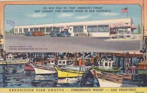 Exposition Fish Grotto Multi View Fisherman's Wharf San Francisco California ...