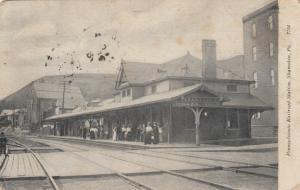 SHAMOKIN , Pa, 1908 ; Pennsylvania Railroad Train Station