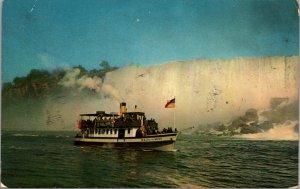 Maid of The Mist below American Falls Viewed From Niagara Falls AMERICA Postcard