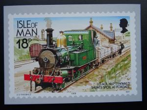 Isle of Man TYNWALD SHUNTS SPOIL AT FOXDALE Railways & Tramways c1980's Postcard