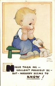 Artist Signed Mabel Lucie Attwell No. 1418, Nicer than Me couldn't possibly Be