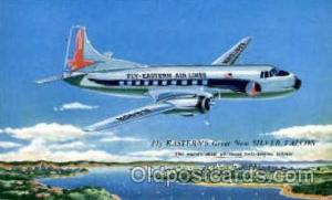 Eastern Air Lines Silver Falcon Airplane, Airport Post Card, Post Card  Easte...