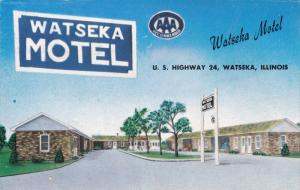 WATSEKA, Illinois, 1940-1960's; Watseka Motel, U.S. Highway 24
