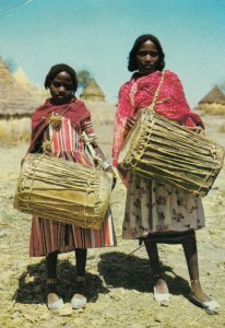 ETHIOPIA , Ugaro - Girls with Coboro , 50-70s