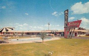 SAHARA MOTEL Highway 99 Roadside Modesto, California ca 1950s Vintage Postcard