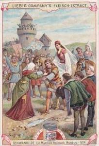 Liebig Vintage Trade Card S0643 The Swan Princess No 4 Ein Marchen frei nach ...