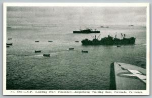 Coronado CA~Landing Craft Personnel~Ships~Amphibious Training Base~1940s WWII