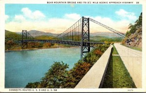 New York Bear Mountain Bridge and Its 3 1/2 Mile Scenic Approach Highway
