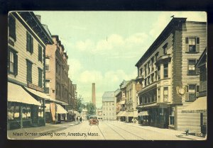Amesbury, Massachusetts/MA/Mass Postcard, Main Street Looking North