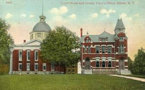 NY - Albion. Court House and County Clerk's Office
