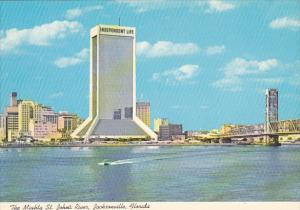 St John's River and Independent Life Building Jacksonville Florida