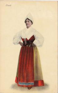 Sweden Oland Local In Traditional Costume
