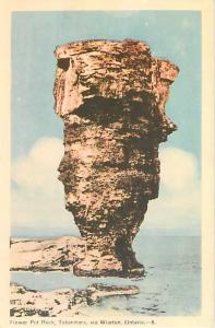Flower Pot Rock Tobermory via Wairton ON Ontario W/B PC