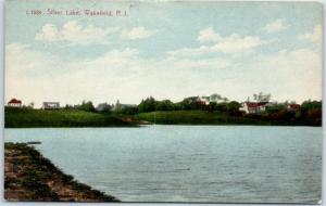 Wakefield, Rhode Island Postcard SILVER LAKE View w/ 1916 RI Cancel