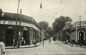 brazil, MANAOS, Unknown Street Scene, Shops, Tram (1940s) Livraria Academica 11