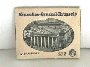 Vintage Bruxelles Brussels 10 Photo Snapshots Postcard Book Albert Series 2 RPPC