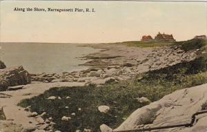 Rhode Island Narragansett Pier Along The Shore 1915