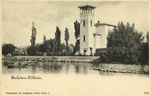hungary, BALATONFÖLDVÁR, Unknown Building near Lake (1899) Postcard