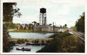 The Reservoir Stratford Ontario ON c1931 Postcard E43