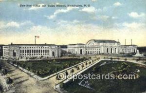 Washington, DC USA,  Post Office Postcard, Postoffice Post Card Old Vintage A...