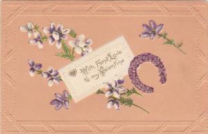 To My Valentine Purple Horseshoe 1909
