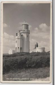 Isle Of Wight; St Catherines Lighthouse, Niton RP PPC By Nigh, Unposted, c 50's
