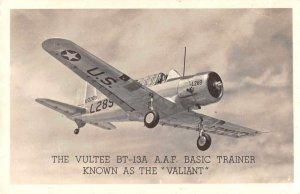 US Military Vultee BT-13A AAF Airplane Real Photo Vintage Postcard JJ658811