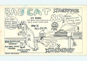 comic - QSL HAM RADIO CARD IN CORNWALL Prince Edward Island PE Canada t0708