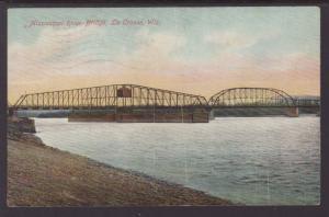Mississippi River Bridge,La Crosse,WI Postcard