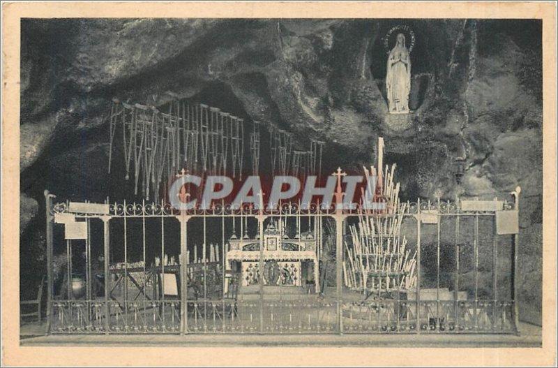 Old Postcard Lourdes Grotto Miraculous