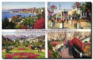 Postcard Menton Old Town Gardens Casino The Frontier Post