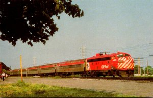 Trains Canadian Pacific Railway Commuter Train With FP-7 Locomotive Number 4073