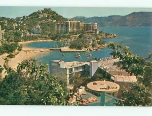 Vintage Post Card Beach Resorts Acapulco Mexico  Pan Am   # 3728