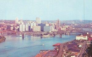 USA Panorama View of Pittsburgh Pennsylvania 04.68