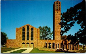 Postcard Mississippi MS State University State College Chapel Memories B4
