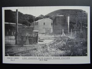 Isle of Man Railway RAMSEY POWER STATION 1968 1980's Postcard by Breese Stamp Co