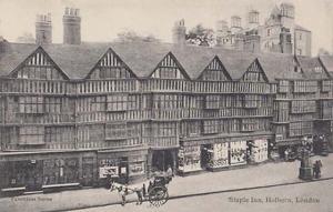 Staple Inn Holburn London Antique Postcard