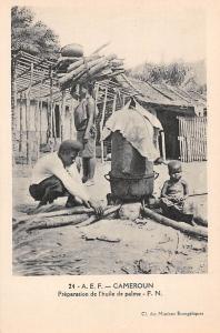 Cameroon Preparation de l'huile de palme, Cameroun