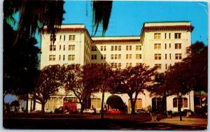 Charleston, South Carolina Postcard HOTEL FORT SUMTER Street View 1958 Cancel