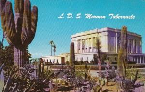 Arizona Mesa Latter Day Saints Morman Temple With Giant Cactus Gardens