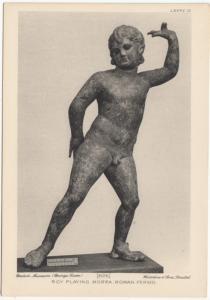 BOY PLAYING MORRA, ROMAN PERIOD, unused Postcard