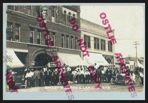 Mitchell SOUTH DAKOTA RPPC 1910 LAND COMPANY TOUR Automobiles LAND BUYERS Sale