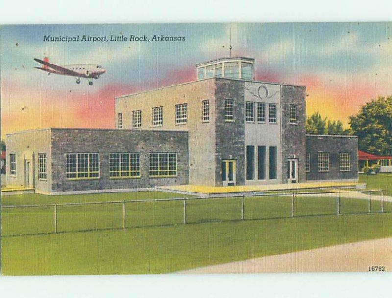 Linen AIRPORT SCENE Little Rock Arkansas AR AF1413