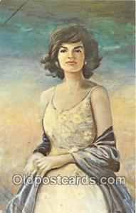 Artist Charles J McCarthy Postcard Jacqueline Kennedy