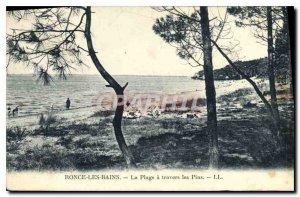 Postcard Old Bramble Bains Beach Travers les Pins