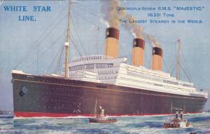 White Star Line Ocean Liner R.M.S. MAJESTIC ,  00-10s