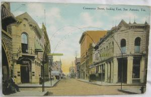 Commerce Street Looking East San Antonio TX 1910