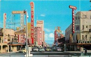 Automobiles Main Las Vegas Nevada Fremont Street Postcard Teich Desert 12364