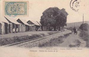 Madagascar Anivorana Station du chemin de fer 1910